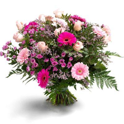 boeket-gerbera-roze